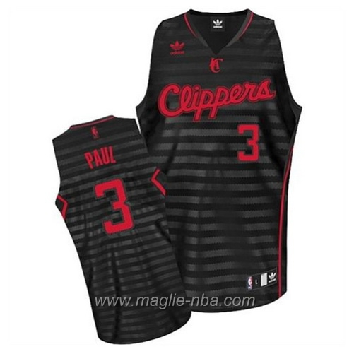 Maglia banda moda Swingman Chris Paul #3 nero Los Angeles Clippers