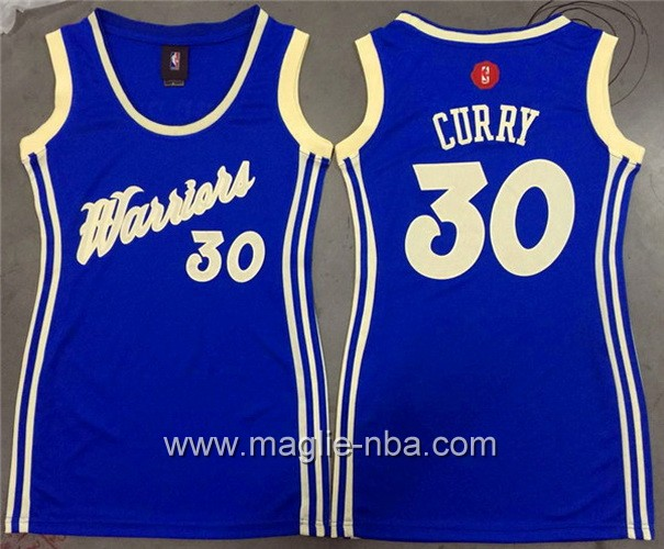 Maglia donna Golden State Warriors Stephen Curry #30 blu