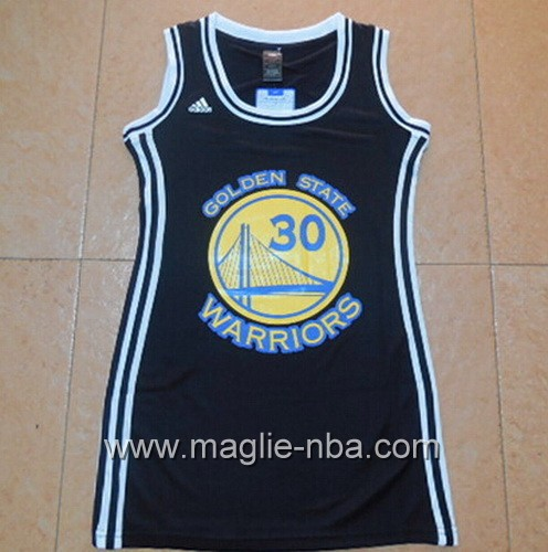 Maglia donna Golden State Warriors Stephen Curry #30 nero