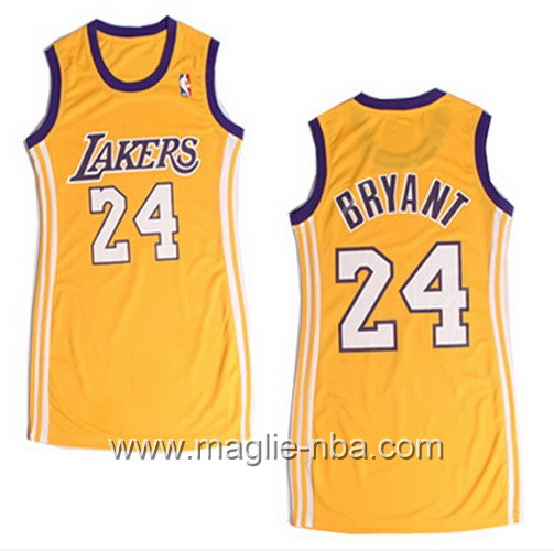Maglia Donna Los Angeles Lakers Kobe Bryant #24 giallo