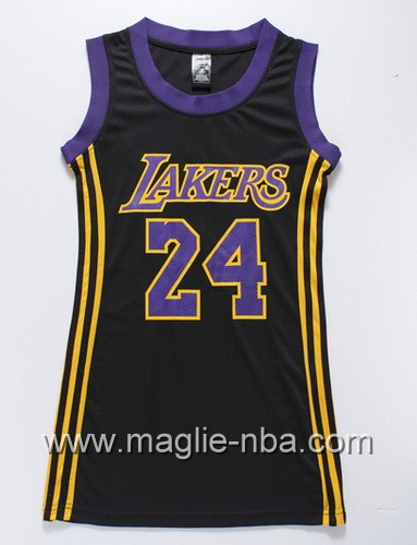 Maglia Donna Los Angeles Lakers Kobe Bryant #24 nero