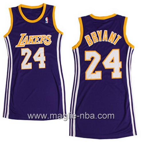 Maglia Donna Los Angeles Lakers Kobe Bryant #24 porpora