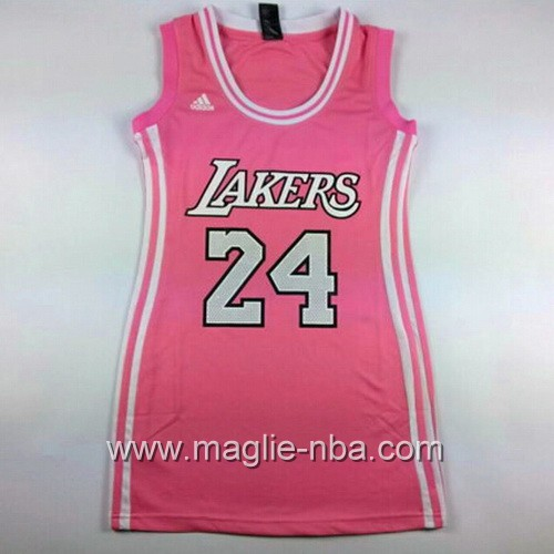 Maglia Donna Los Angeles Lakers Kobe Bryant #24 rosa