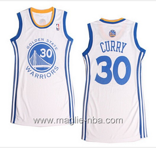 Maglia donna NBA Golden State Warriors Stephen Curry #30 bianco