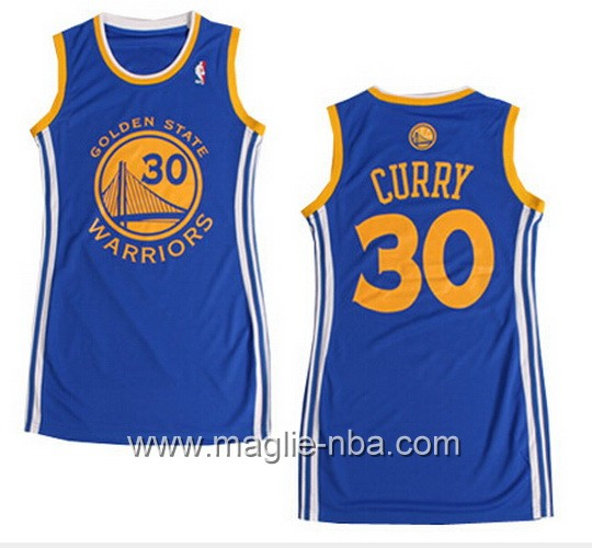 Maglia donna NBA Golden State Warriors Stephen Curry #30 blu