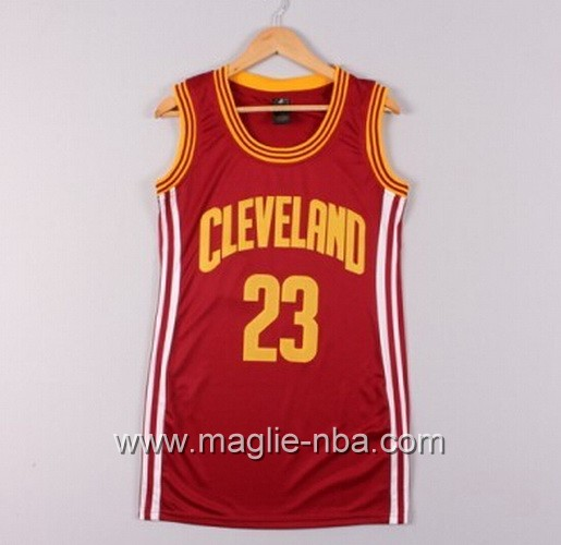 Maglia Donna Cleveland Cavaliers LeBron James #23 rosso