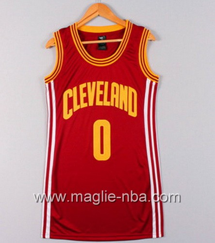 Maglia Donna Cleveland Cavaliers Kevin Love #0 rosso