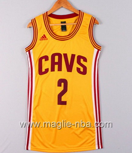 Maglia Donna Cleveland Cavaliers Kyrie Irving #2 giallo