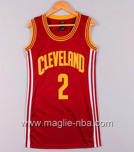 Maglia Donna Cleveland Cavaliers Kyrie Irving #2 rosso