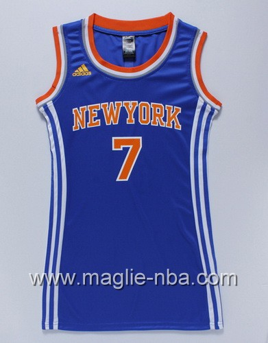 Maglia donna New York Knicks Carmelo Anthony #7 blu