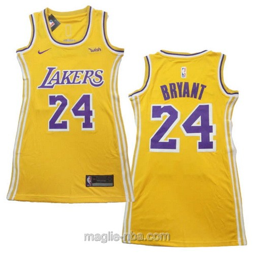 Maglia Donna Nike Los Angeles Lakers #24 Kobe Bryant giallo
