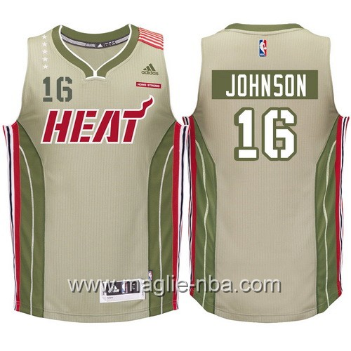 Maglia Miami Heat 2017 James Johnson #16 Caqui Swingman
