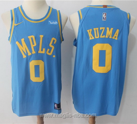 Maglia Retro nba Nike Los Angeles Lakers #0 Kyle Kuzma blu