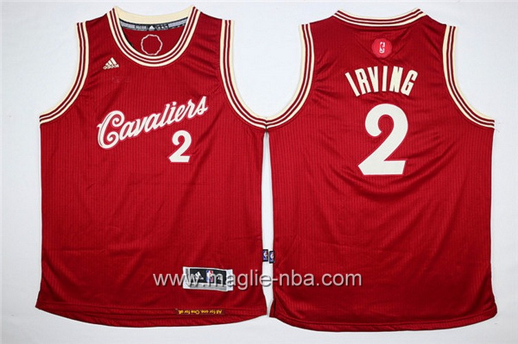 Maglia bambino Cleveland Cavaliers Kyrie Irving #2 rosso
