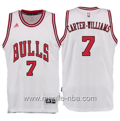 Maglia Chicago Bulls 2017 Michael Carter-Williams #7 bianco
