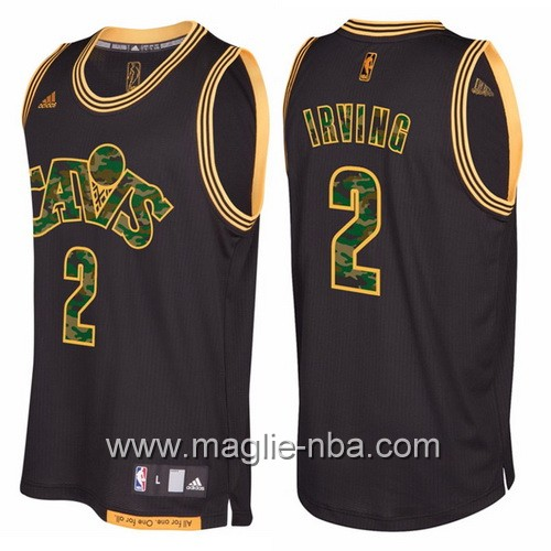 Maglia Cleveland Cavaliers camo nero Kyrie Irving #2