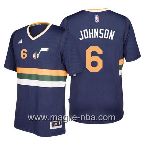 Maglia manica corta Utah Jazz Joe Johnson #6 blu