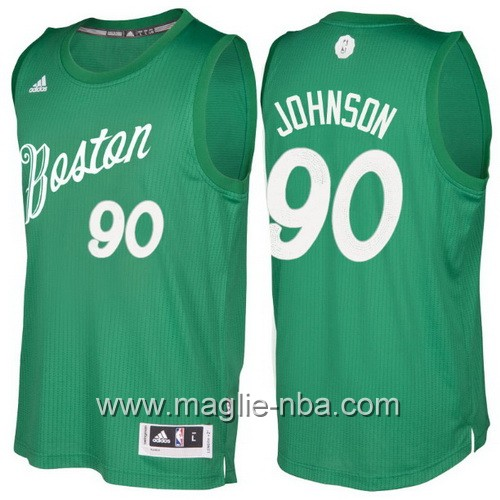 Maglia nba 2016 2017 Natale Boston Celtics Amir Johnson #90 verde