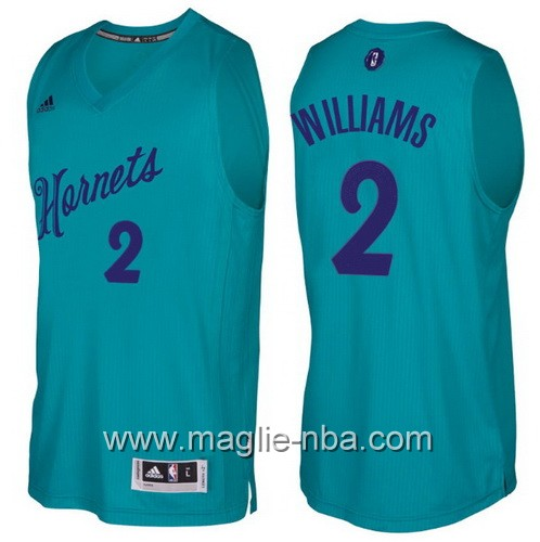 Maglia nba 2016 2017 Natale Charlotte Hornets Marvin Williams #2 verde
