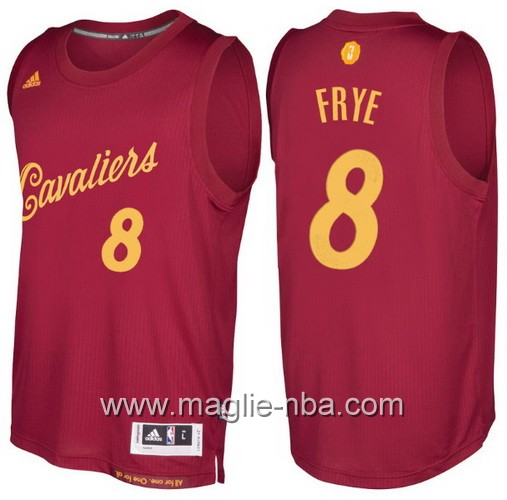 Maglia nba 2016 2017 Natale Cleveland Cavaliers Channing Frye #8 rosso