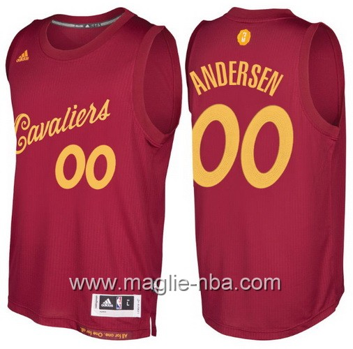 Maglia nba 2016 2017 Natale Cleveland Cavaliers Chris Andersen #00 rosso