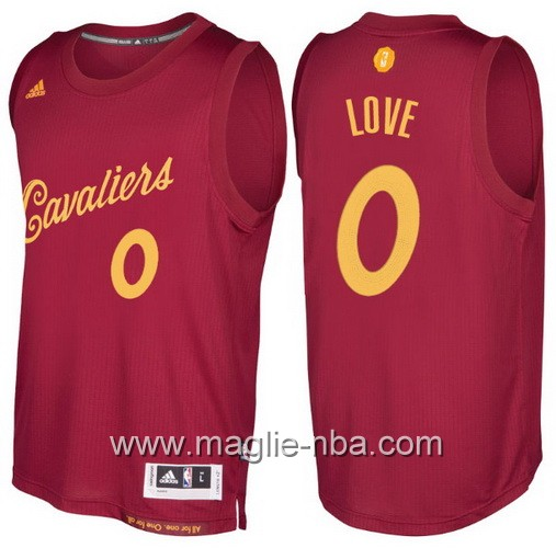 Maglia nba 2016 2017 Natale Cleveland Cavaliers Kevin Love #0 rosso