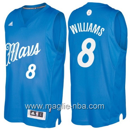 Maglia nba 2016 2017 Natale Dallas Mavericks Deron Williams #8 blu