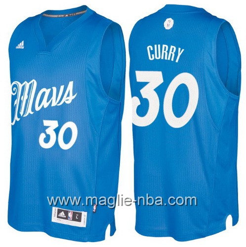 Maglia nba 2016 2017 Natale Dallas Mavericks Seth Curry #30 blu