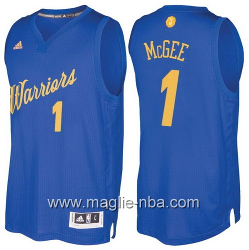 Maglia nba 2016 2017 Natale Golden State Warriors JaVale McGee #1 blu