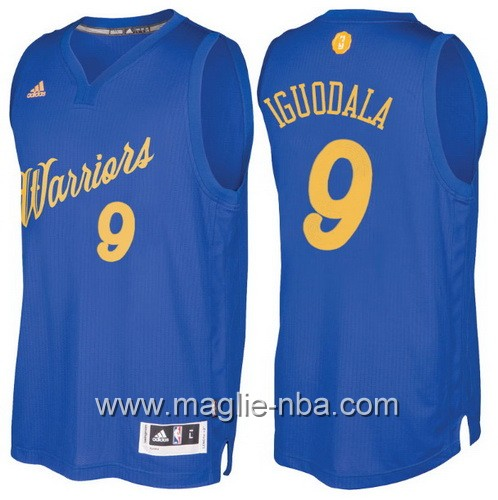 Maglia nba 2016 2017 Natale Golden State Warriors Andre Iguodala #9 blu