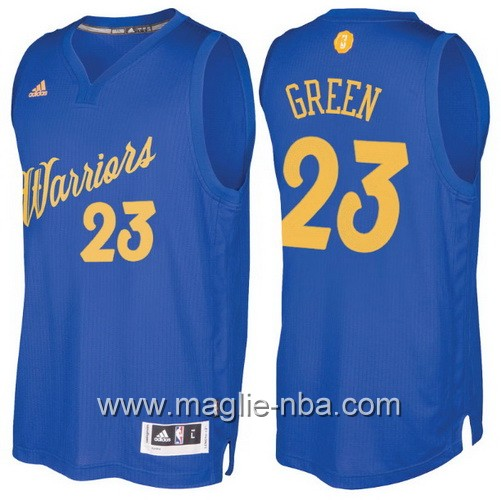 Maglia nba 2016 2017 Natale Golden State Warriors Draymond Green #23 blu