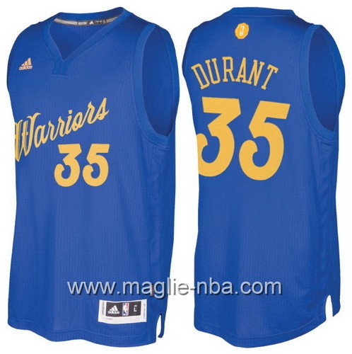 Maglia nba 2016 2017 Natale Golden State Warriors Kevin Durant #35 blu