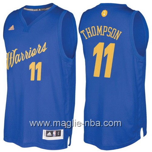 Maglia nba 2016 2017 Natale Golden State Warriors Klay Thompson #11 blu