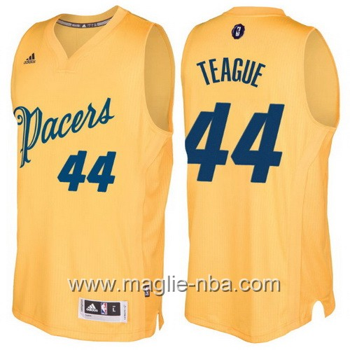 Maglia nba 2016 2017 Natale Indiana Pacers Jeff Teague #44 giallo