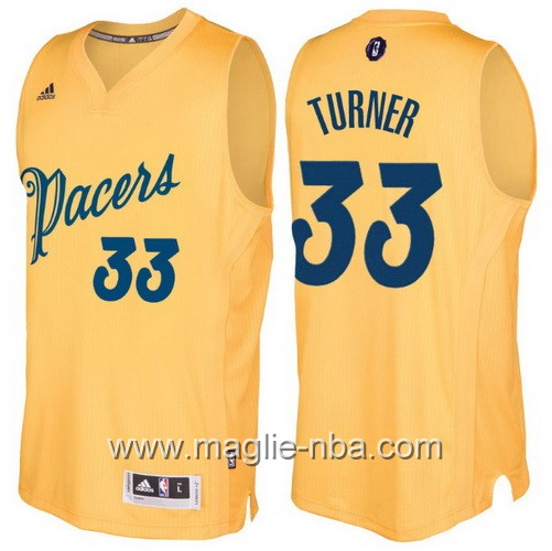 Maglia nba 2016 2017 Natale Indiana Pacers Myles Turner #33 giallo