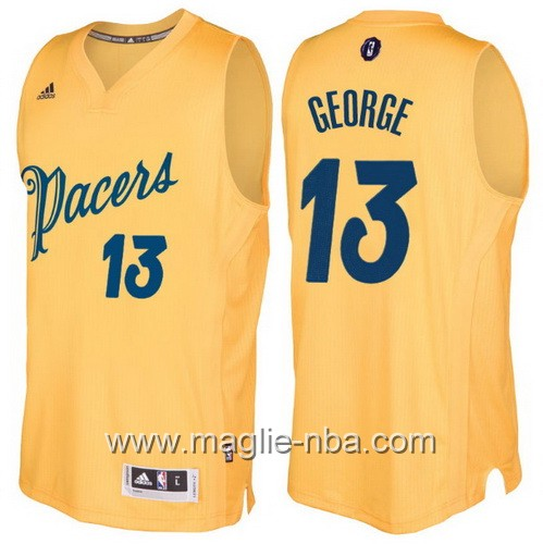 Maglia nba 2016 2017 Natale Indiana Pacers Paul George #13 giallo