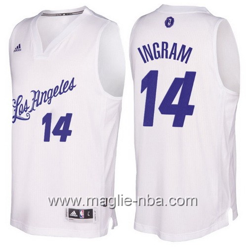 Maglia nba 2016 2017 Natale Los Angeles Lakers Brandon Ingram #14 bianco