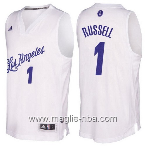 Maglia nba 2016 2017 Natale Los Angeles Lakers D'Angelo Russell #1 bianco