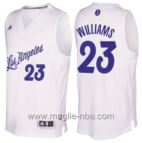 Maglia nba 2016 2017 Natale Los Angeles Lakers Lou Williams #23 bianco