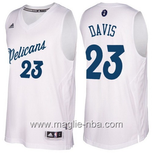 Maglia nba 2016 2017 Natale New Orleans Pelicans Anthony Davis #23 bianco