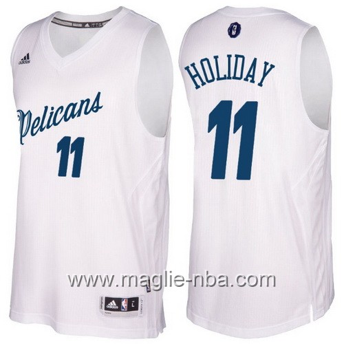 Maglia nba 2016 2017 Natale New Orleans Pelicans Jrue Holiday #11 bianco