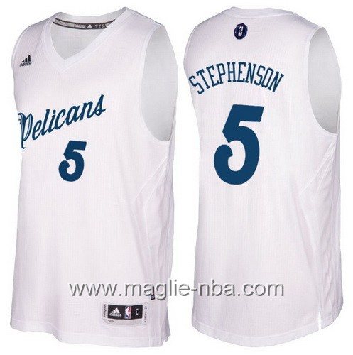 Maglia nba 2016 2017 Natale New Orleans Pelicans Lance Stephenson #5 bianco