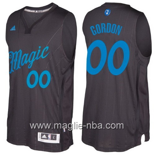 Maglia nba 2016 2017 Natale Orlando Magic Aaron Gordon #00 nera