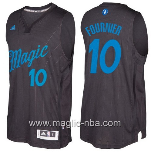 Maglia nba 2016 2017 Natale Orlando Magic Evan Fournier #10 nera