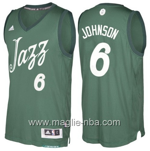 Maglia nba 2016 2017 Natale Utah Jazz Joe Johnson #6 verde