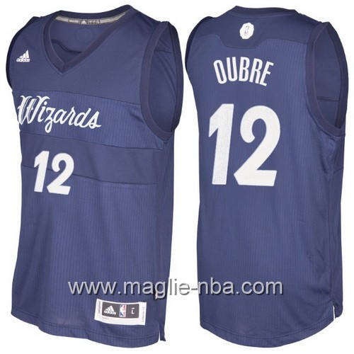 Maglia nba 2016 2017 Natale Washington Wizards Kelly Oubre #12 blu marino