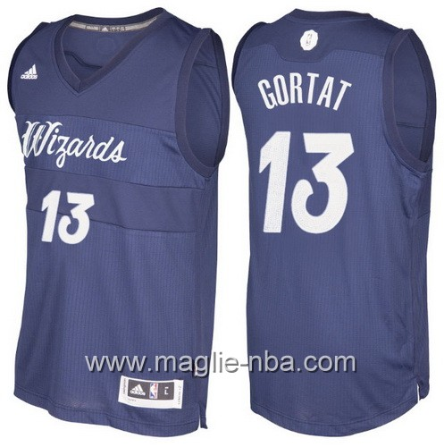 Maglia nba 2016 2017 Natale Washington Wizards Marcin Gortat #13 blu marino