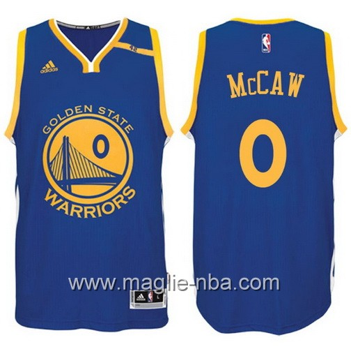Maglia nba 2017 Golden State Warriors 42 Patch Patrick McCaw #0 blu