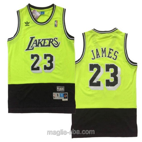 Maglia nba Adidas Los Angeles Lakers #23 LeBron James verde nero
