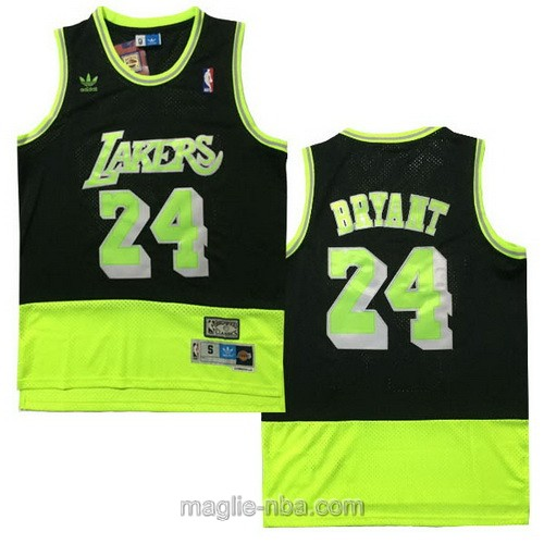 Maglia nba Adidas Los Angeles Lakers #24 Kobe Bryant nero verde